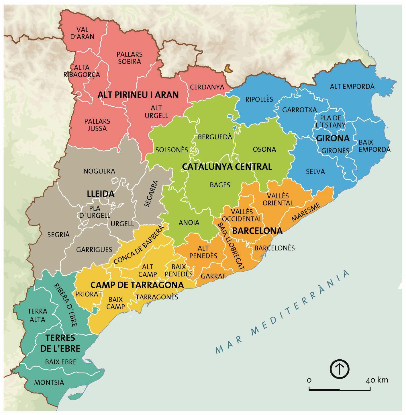 Catalunya Barcelonan Kartta Kartta Catalunya Barcelona
