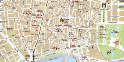 Barcelona Kartta Kartat Barcelonassa Katalonia Espanja